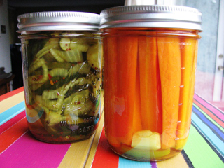Speedy Spicy Pickled Carrots || Hitchhiking to Heaven
