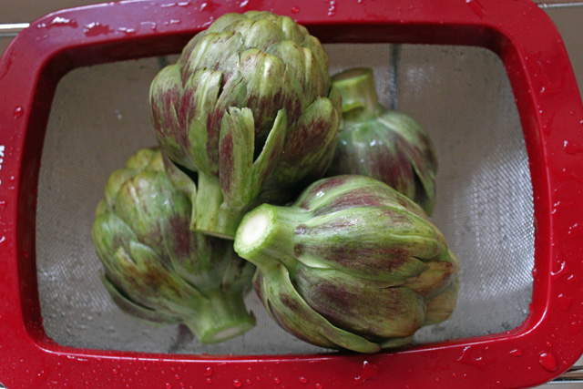 Washing the Artichokes
