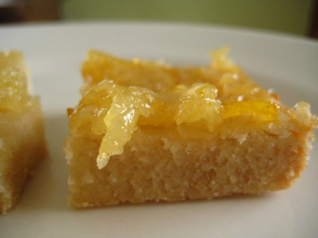 Meyer Lemon Marmalade Shortbread