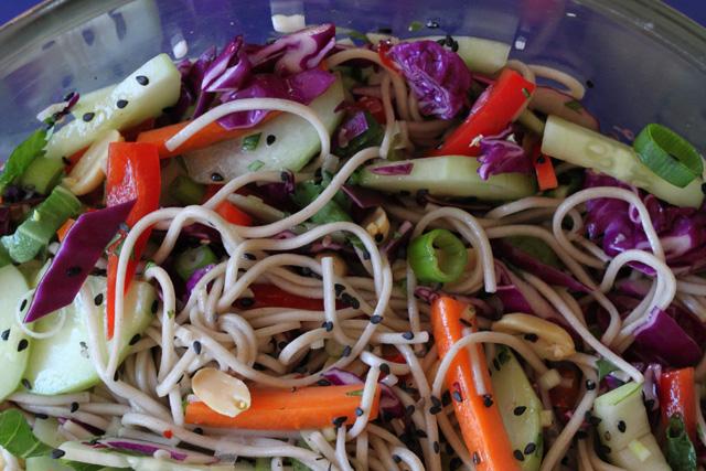 Soba Noodle Salad with Bok Choy