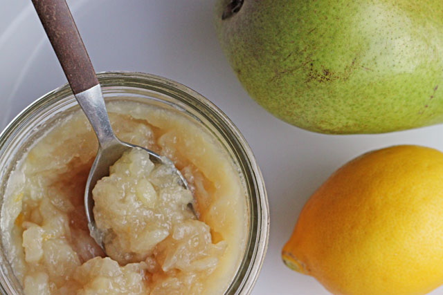 No Sugar Pear Lemon Jam