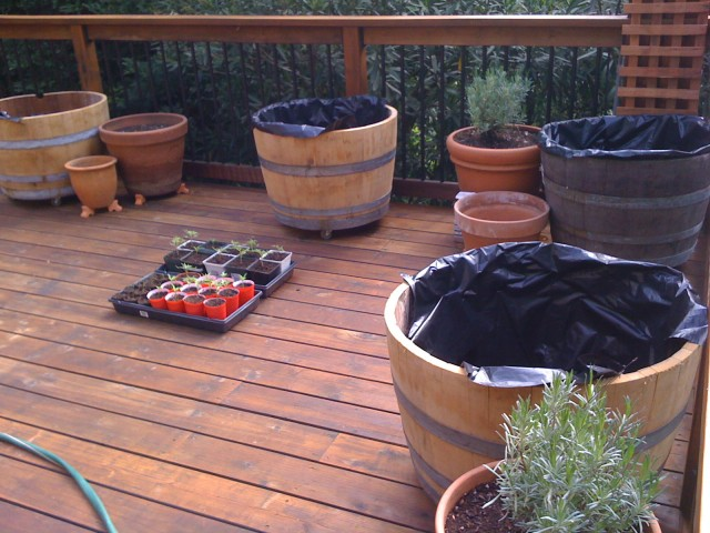 How to Prepare a Half Wine Barrel Planter | Hitchhiking to Heaven