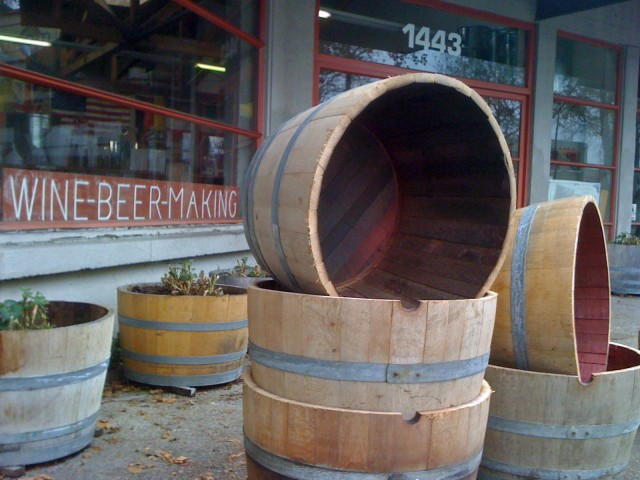 Half Wine Barrel or Whiskey Barrel Planters