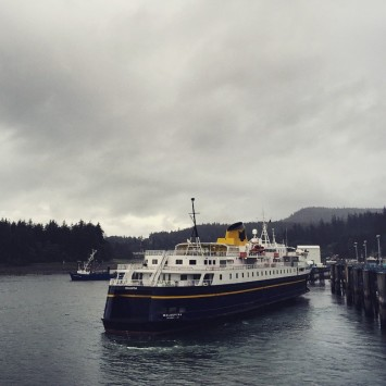 Cold and rainy in Juneau this morning The ferry Malaspinahellip