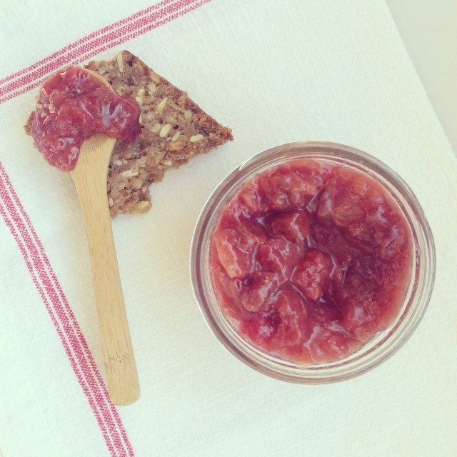 Cherry Rhubarb Jam with Ginger & Honey | Hitchhiking to Heaven