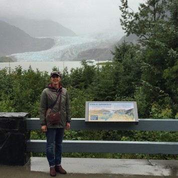 Its kinda raining here at the Mendenhallglacier Juneau fairfaxtofairbanks