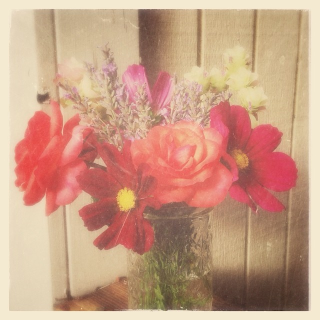 Mini-mid-summer garden bouquet