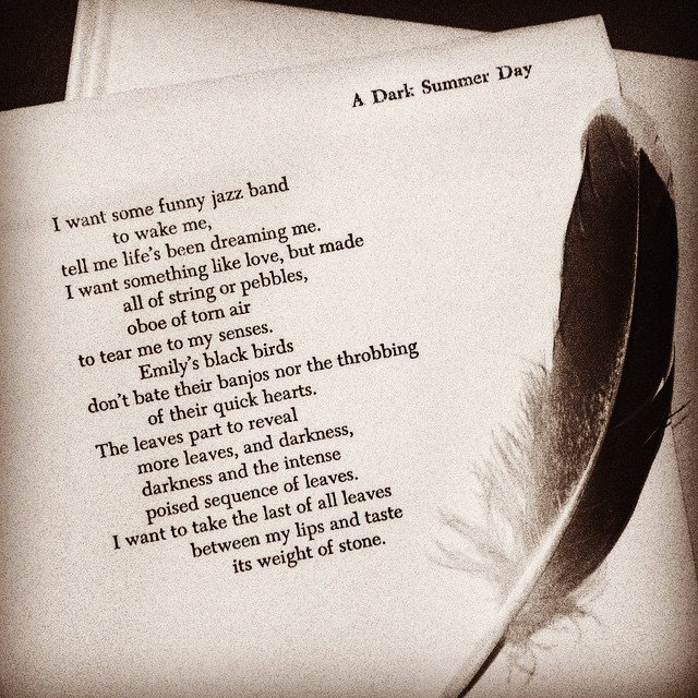 #tpt (three poem thursday) a dark summer day/d. levertov @chezdanisse