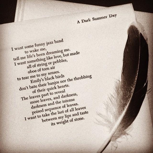#tpt (three poem thursday) a dark summer day/d. levertov @chezdanisse