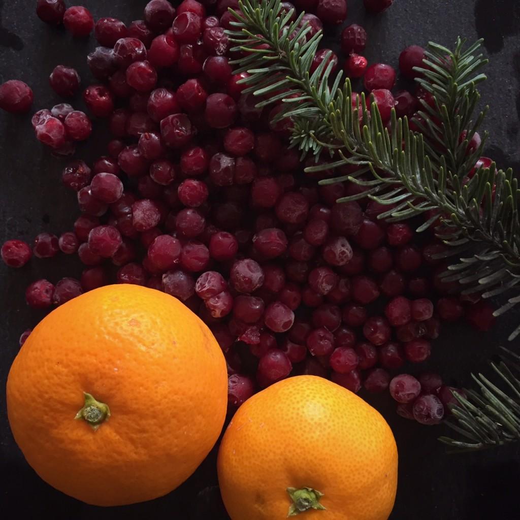 Lingonberries and Mandarin Oranges