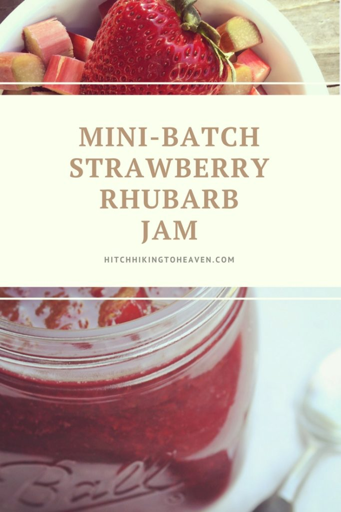 Mini-Batch Strawberry Rhubarb Jam | Hitchhiking to Heaven